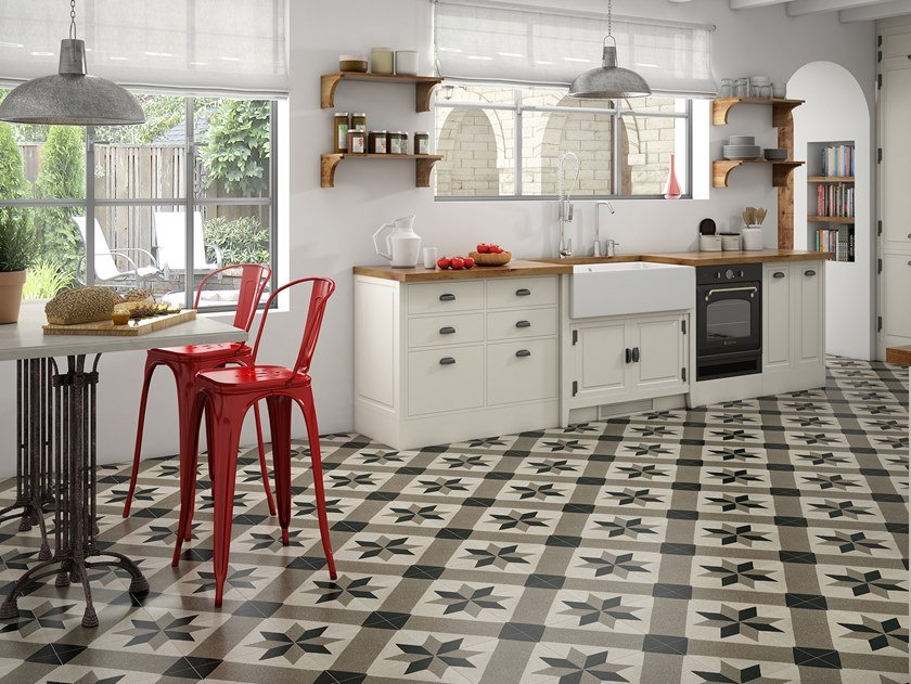 Technical Porcelain Wall Floor Tiles With Concrete Effect