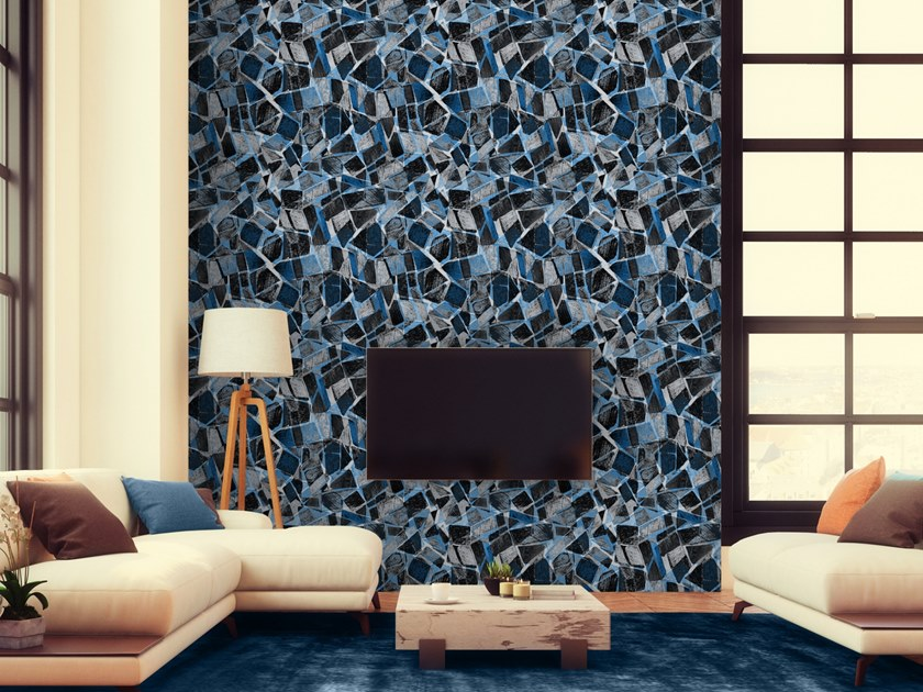 Motif washable wallpaper TERRAZZO by Baboon