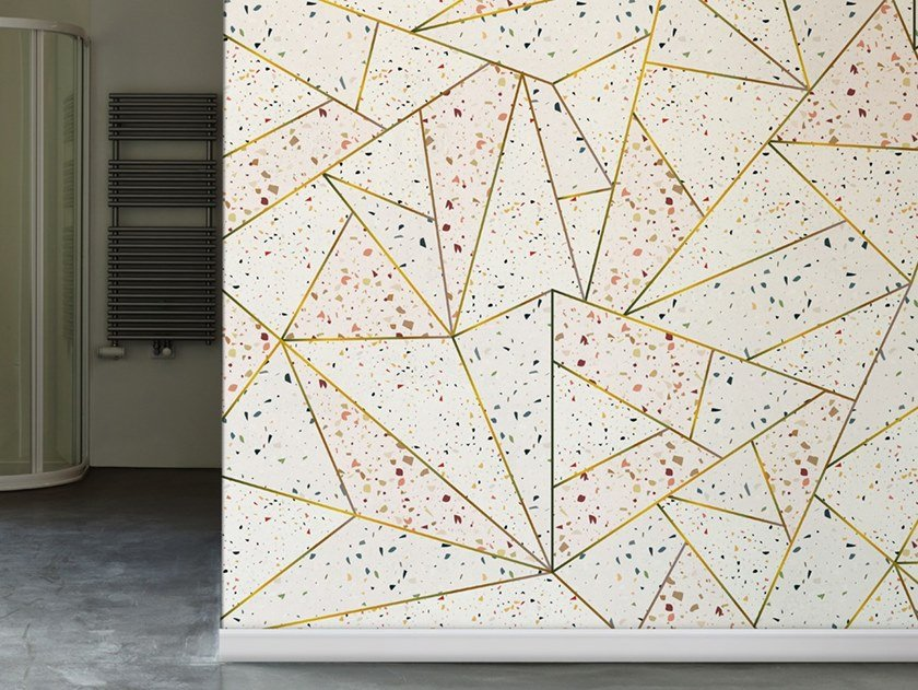 Industrial style Ecological washable PVC free wallpaper TERRAZZO by Wallpepper
