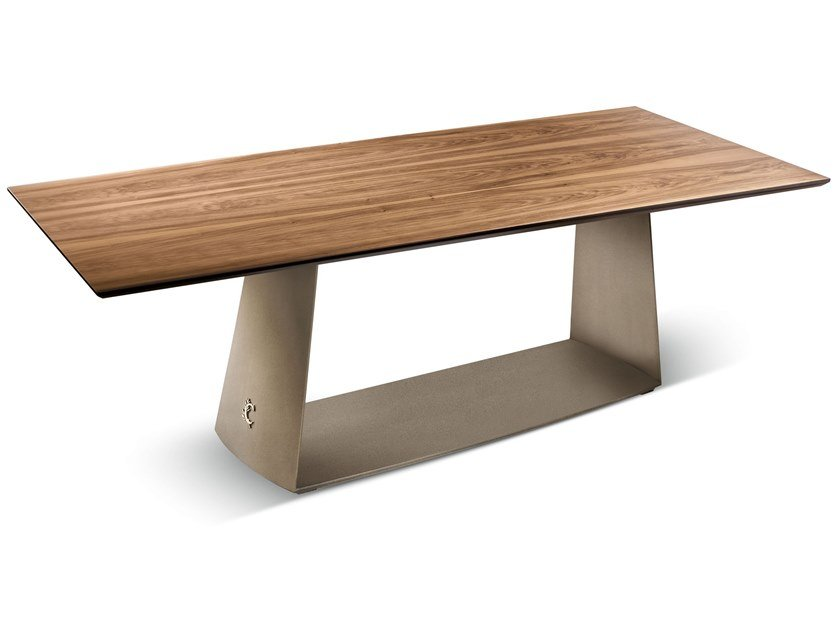 Rectangular wooden table TESEO   Wooden table by Cantori