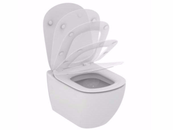Wall-hung ceramic toilet TESI - T3541 by Ideal Standard