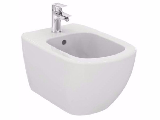 Wall Hung Ceramic Bidet Tesi T3552 Tesi Collection By Ideal