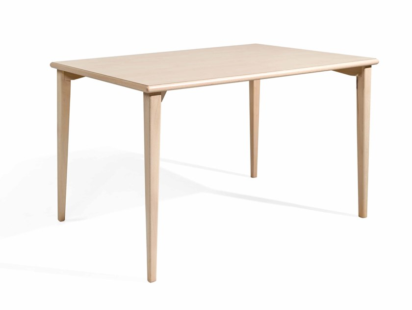 Rectangular wooden dining table TESS RECT by Fenabel