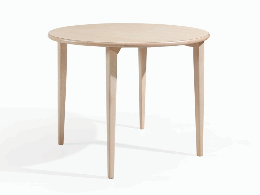 Round wooden dining table TESS RED by Fenabel