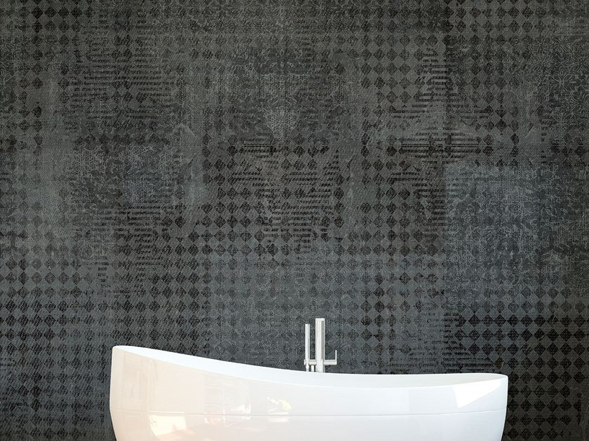Damask waterproof wallpaper with textile effect TESS by Tecnografica Italian Wallcoverings