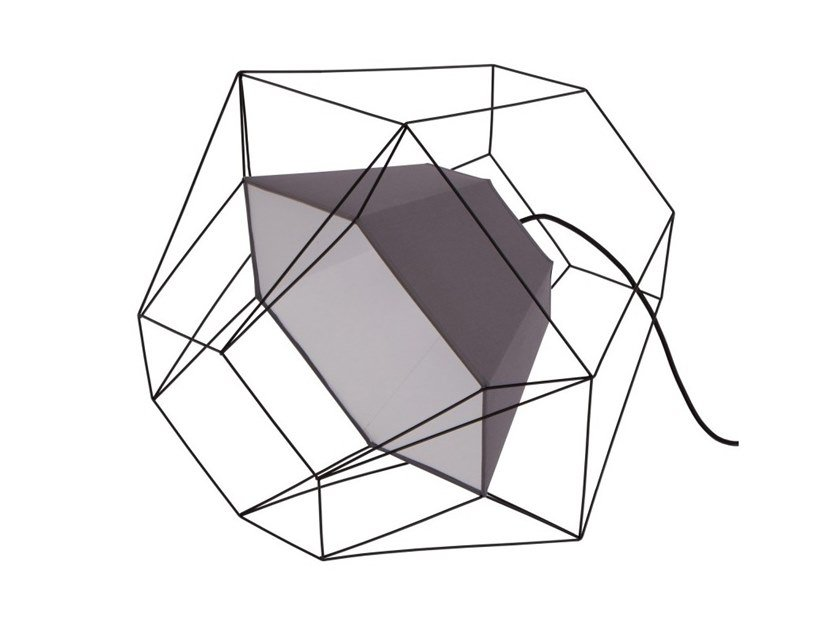 Metal table lamp TESSERACT by Flam & Luce