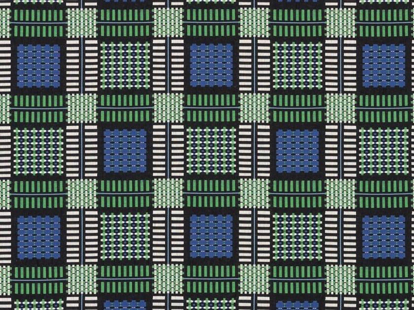 Jacquard tartan cotton upholstery fabric TESSERE by Dedar