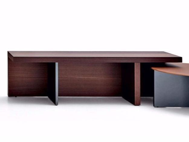 Wooden coffee table TETRIS | Rectangular coffee table by Molteni