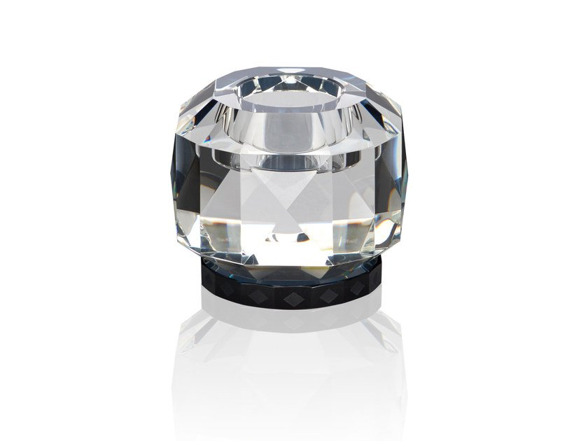 Crystal candle holder TEXAS - CLEAR / BLACK by Reflections Copenhagen