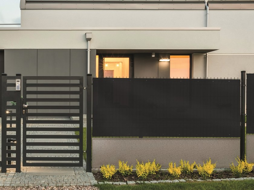 PVC shade panel TEXSTYLE ALL BLACK by TENAX