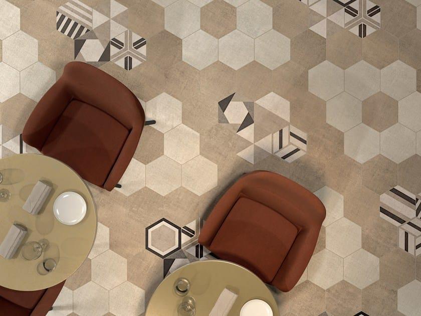 Porcelain stoneware wall tiles / flooring TEXTILE IVORY by Marca Corona