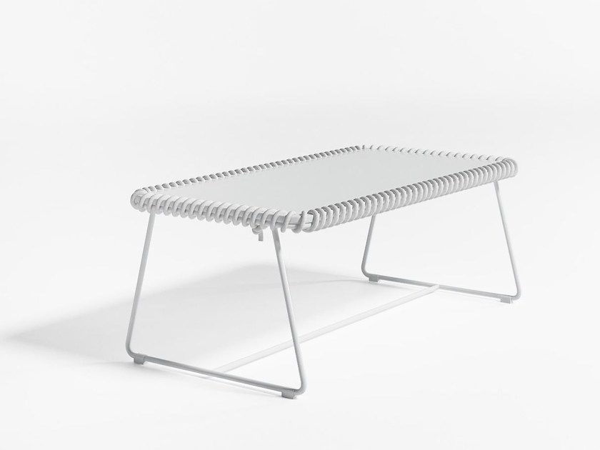 Rectangular polyethylene garden side table TEXTILE | Rectangular coffee table by GANDIA BLASCO