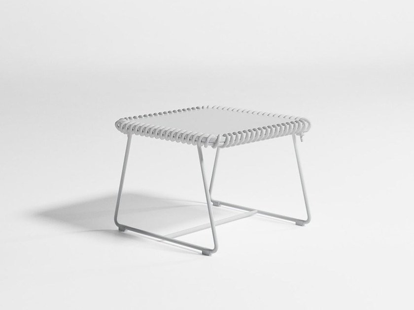 Square Polyethylene Garden Side Table Textile Coffee By Gandia Blasco