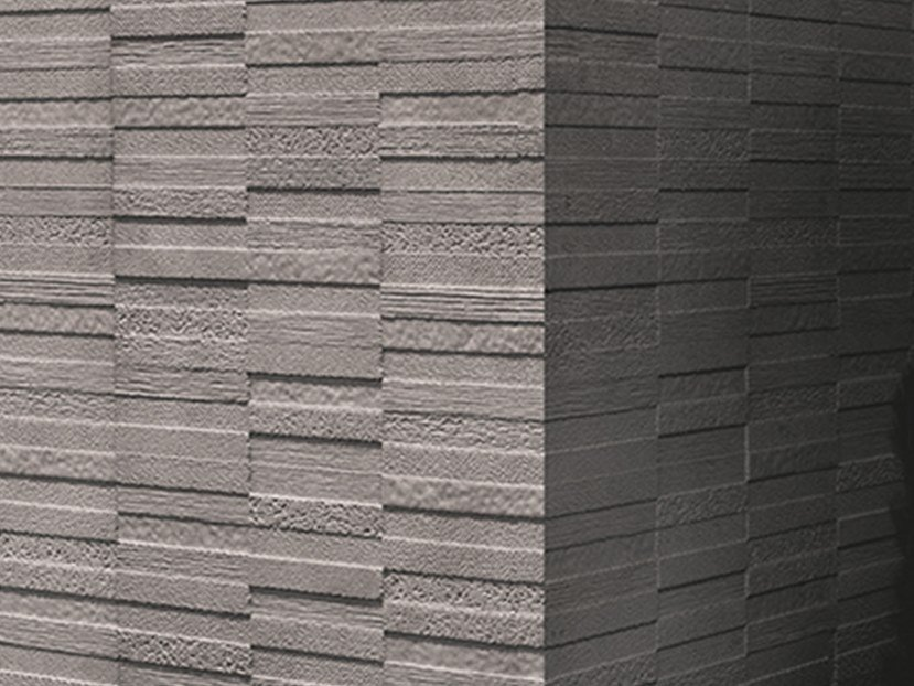 3D Wall Cladding with stone effect TEXTURES DARK GRAY by Venis