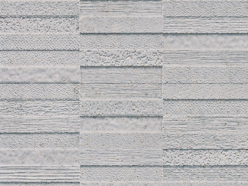 3D Wall Cladding with stone effect TEXTURES GRAY by Venis