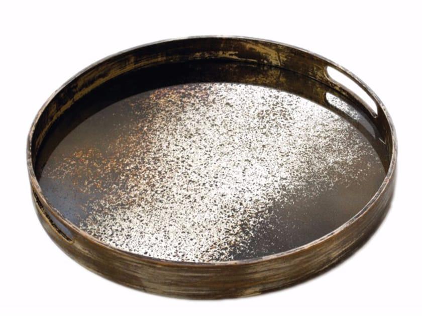 Round tray HEAVY AGED MIRROR | Tray by Notre Monde