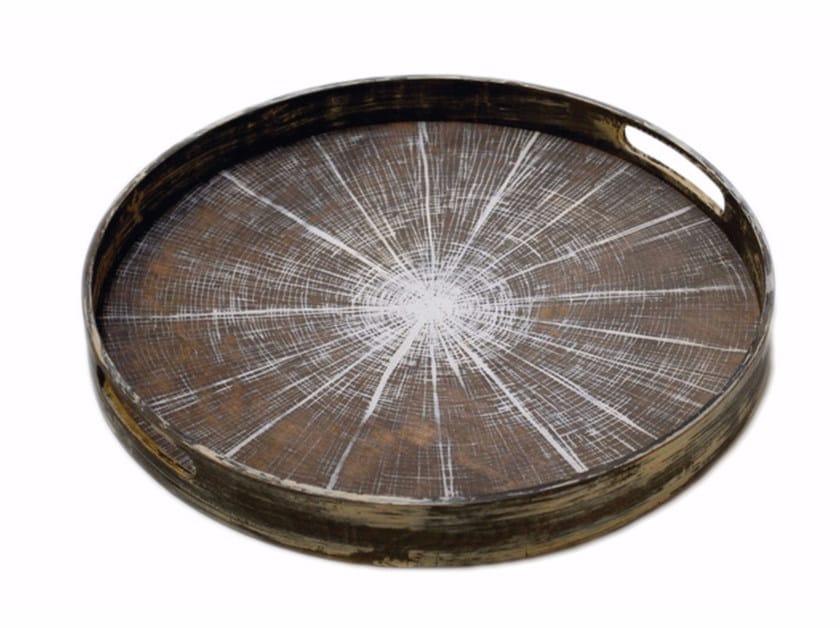 Round wooden tray SLICE   Round tray by Notre Monde