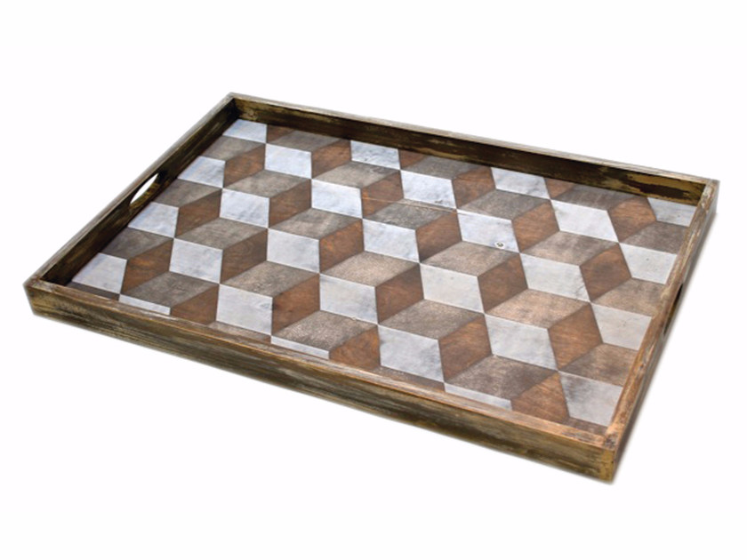 Rectangular wooden tray TILE | Tray by Notre Monde