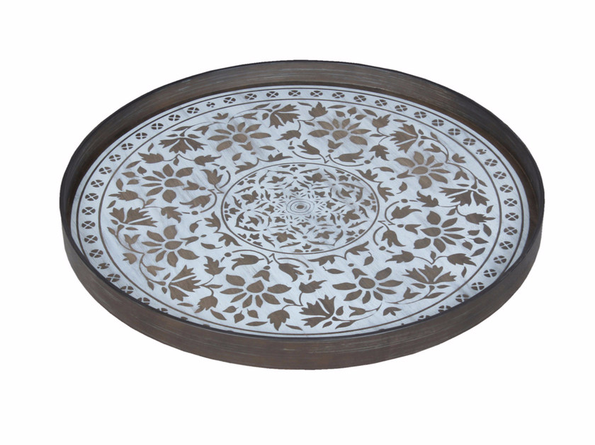 Round wooden tray MARRAKECH by Notre Monde