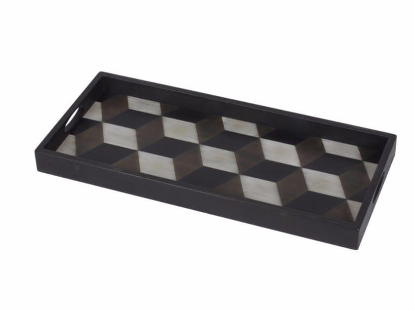 Rectangular wooden tray TILE   Rectangular tray by Notre Monde