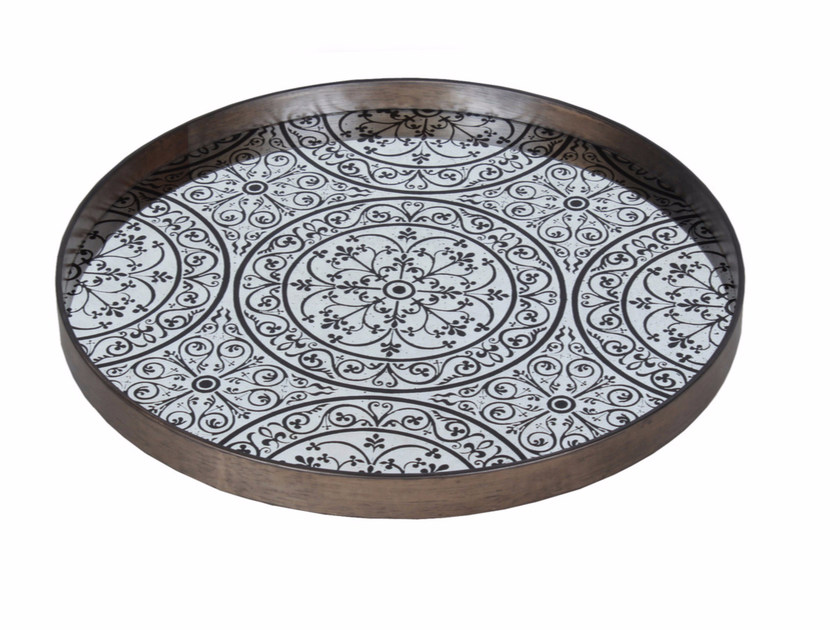 Round tray MOROCCAN CHOCOLATE by Notre Monde