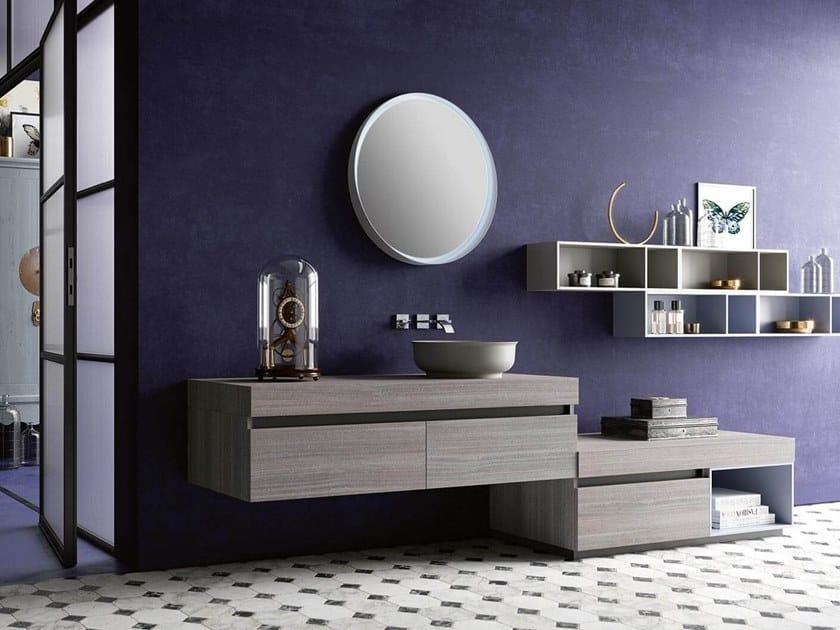 Vanity unit with mirror THAI 322 by RAB Arredobagno