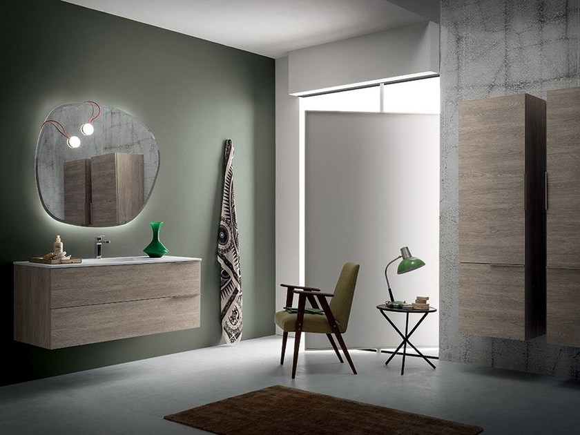 Wall-mounted vanity unit THAI COMPOSITION 1 by RAB Arredobagno