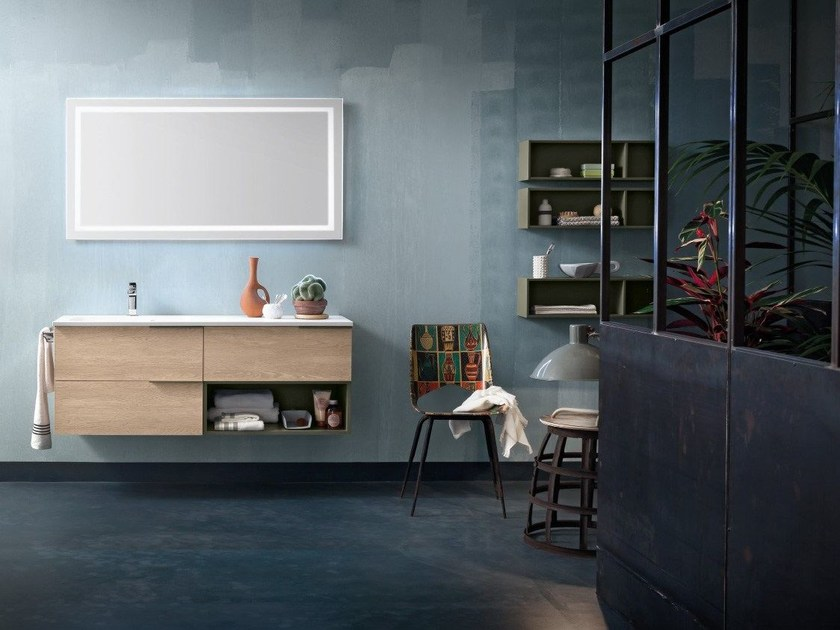 Wall-mounted vanity unit THAI COMPOSITION 4 by RAB Arredobagno