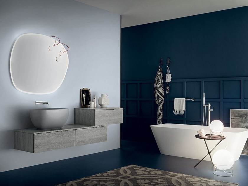 Wall-mounted vanity unit THAI COMPOSITION 10 by RAB Arredobagno