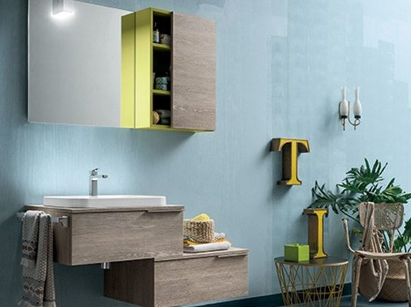 Wall-mounted vanity unit THAI COMPOSITION 12 by RAB Arredobagno