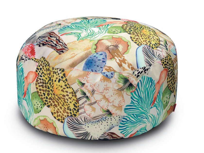 Round pouf with removable lining THAITI | Pouf by MissoniHome