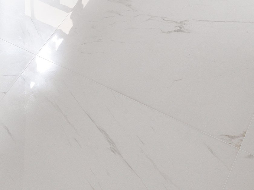 Porcelain stoneware wall/floor tiles with marble effect THASSOS PULIDO by PORCELANOSA
