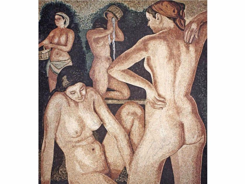Marble mosaic THE BATH III – OMAGGIO A SEREBRIAKOVA by Lithos Mosaico Italia