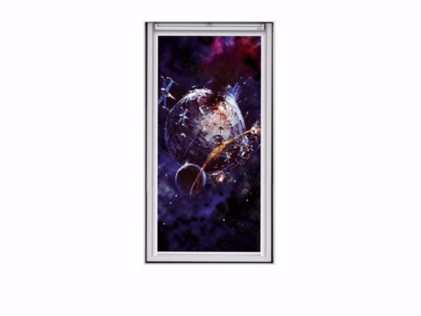 Dimming polyester roller blind THE DEATH STAR by Velux