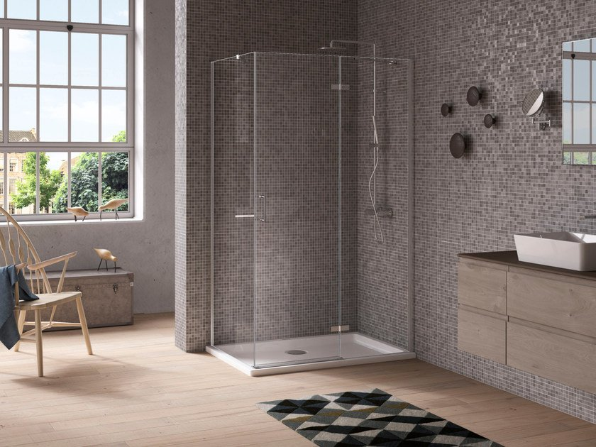 THE ESSENTIALS | Shower cabin with hinged door The Essentials ...