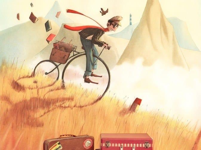 Panoramic JET TEX kids wallpaper THE EXTRAORDINARY BIKE by ACTE-DECO