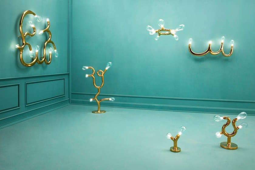 Splendour Ceramica The Four Led BulbLampada A Scarlet Parete Da In NPXkn0O8Zw