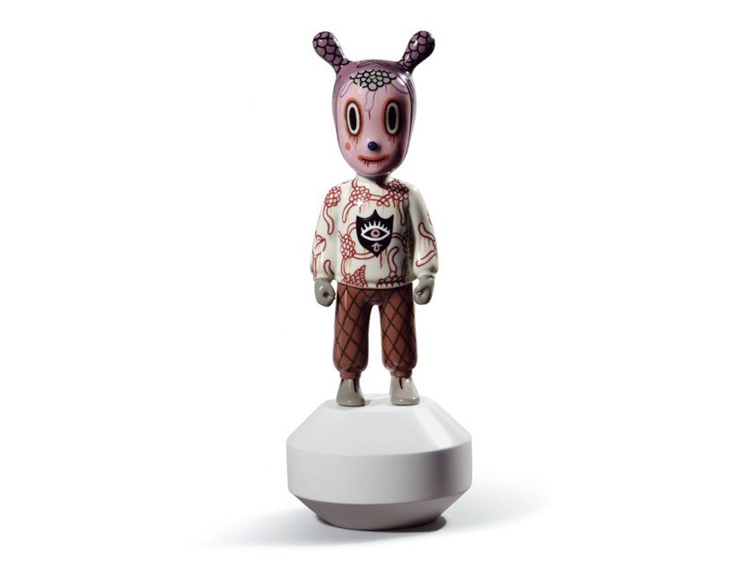 Porcelain decorative object THE GUEST (S) by Gary Baseman by Lladró