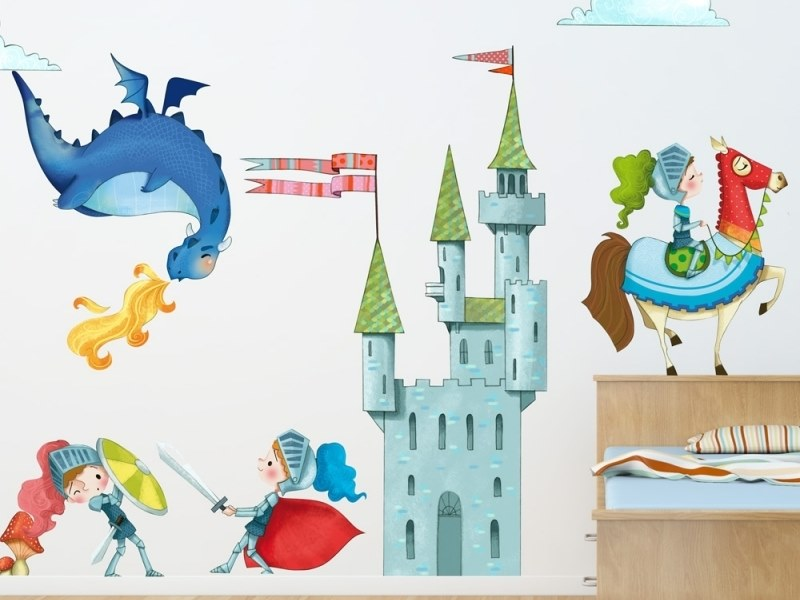 Kids wall sticker THE KNIGHTS by ACTE-DECO