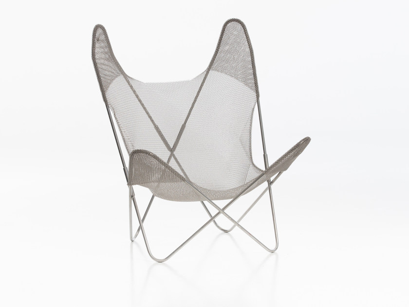 Stainless steel easy chair THE LABO DESIGN by AIRBORNE