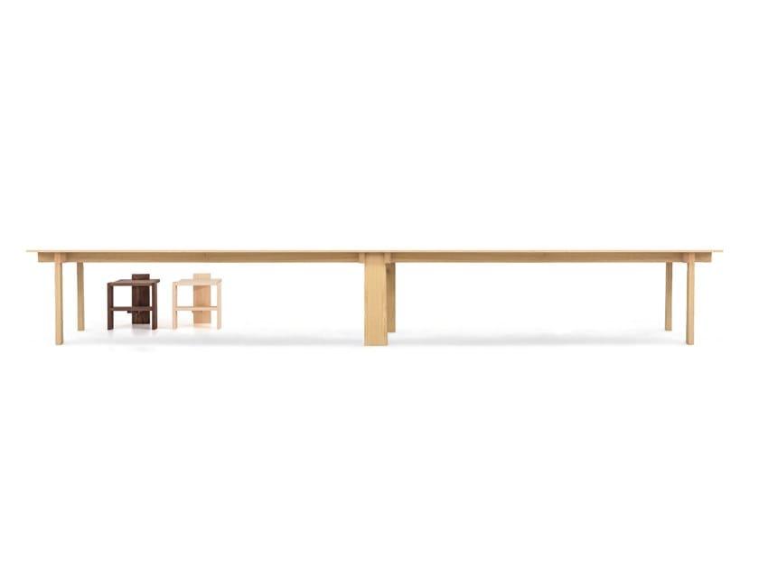 Moca THE LONG RIB. Rectangular Wooden Meeting Table