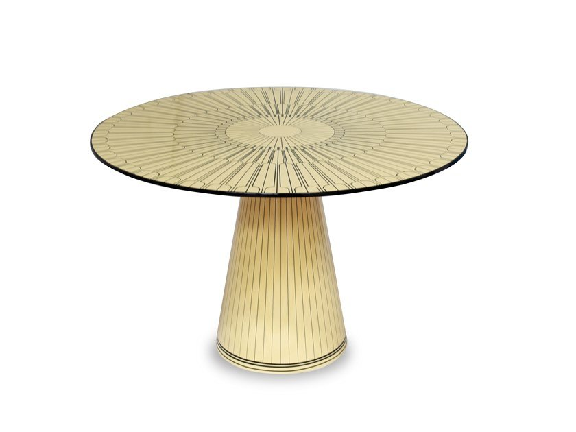Round MDF table THE METROPOLIS by Scarlet Splendour
