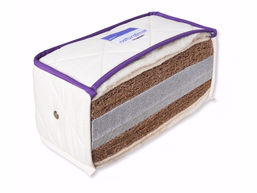 Breathable latex and coir mattress THE MOHAIR | Mattress by Naturalmat