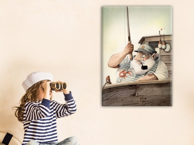 Hemp Canvas print THE OLD SEAMAN by ACTE-DECO