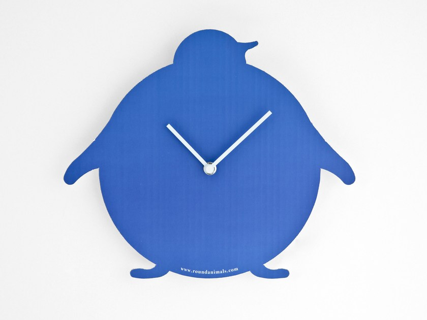 In Parete Design Orologio Con Da Valigetta The Penguin Round Animals Cartone Blue iPkXuZO