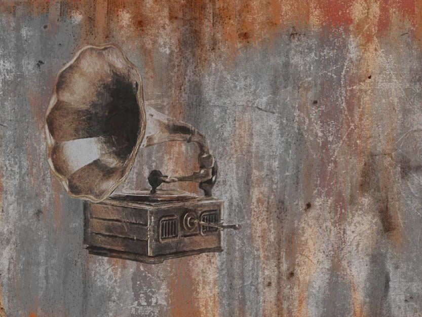 Wallpaper THE PHONOGRAPH by Wallpepper
