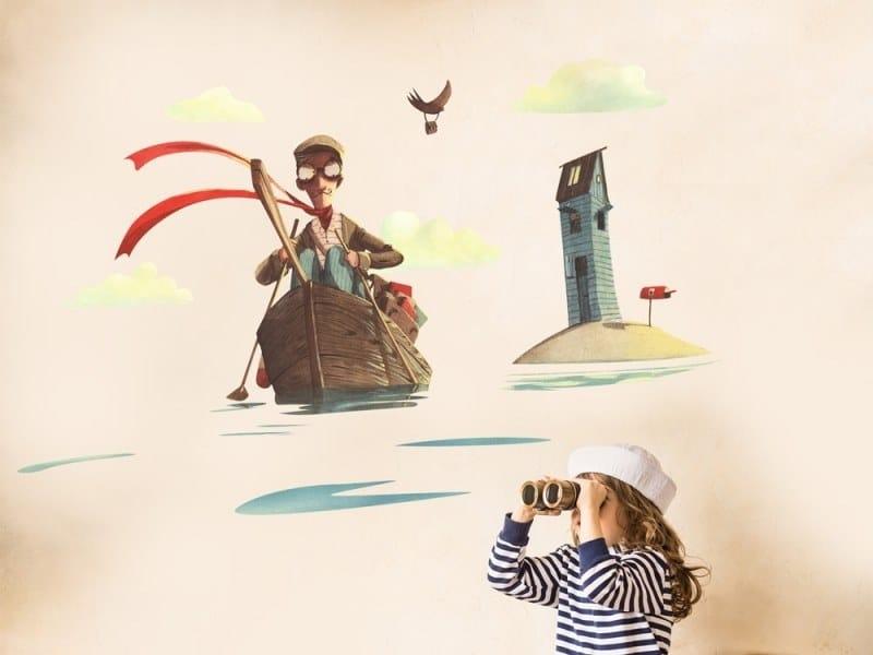 Kids wall sticker THE POSTMAN | Wall sticker by ACTE-DECO