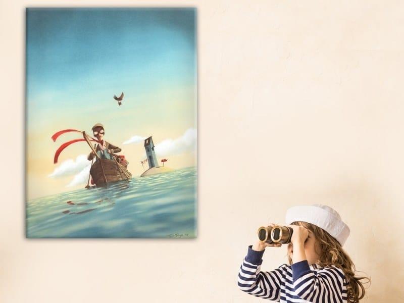 Hemp Canvas print THE POSTMAN | Canvas print by ACTE-DECO