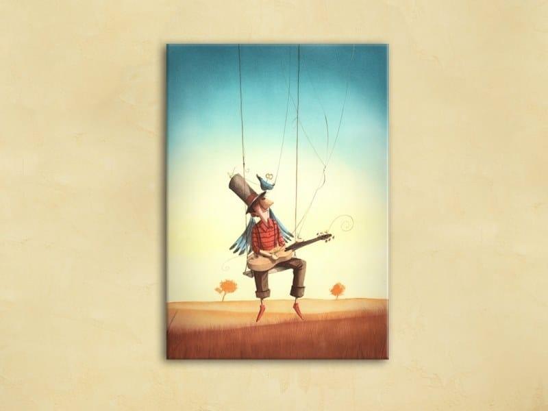 Hemp Canvas print THE PUPPET | Canvas print by ACTE-DECO