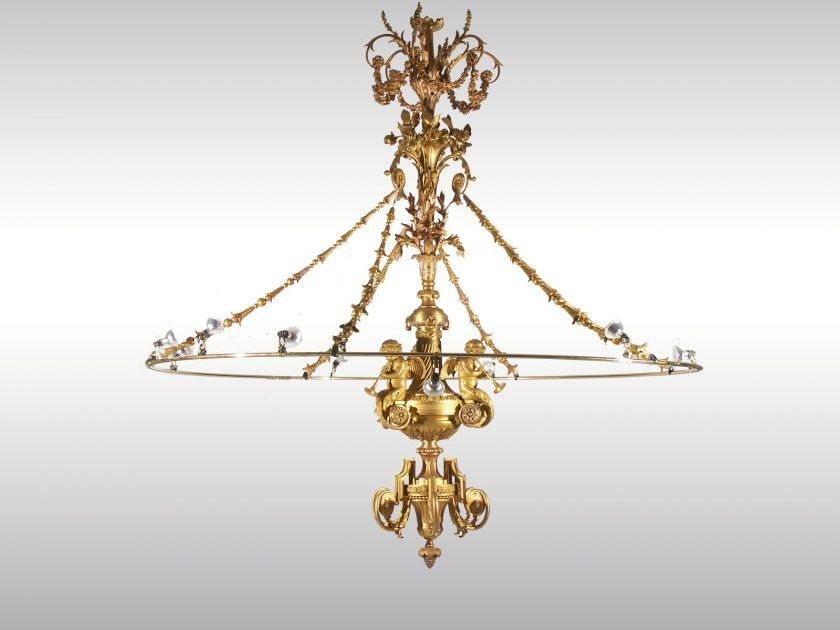Classic style bronze chandelier THE RING by Woka Lamps Vienna